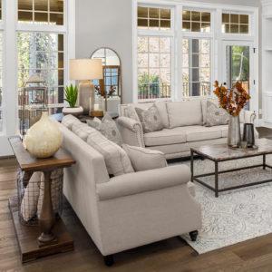 Living room with luxury fabrics